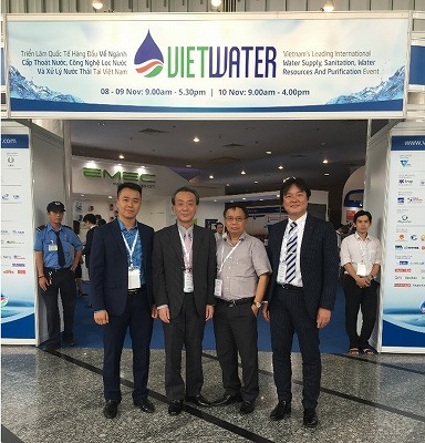 With Dr. Nguyen Hong Tien, Vice Chairman and Mr Ngo Minh Hai, VWSA